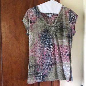 Aztec print colorful Tshirt